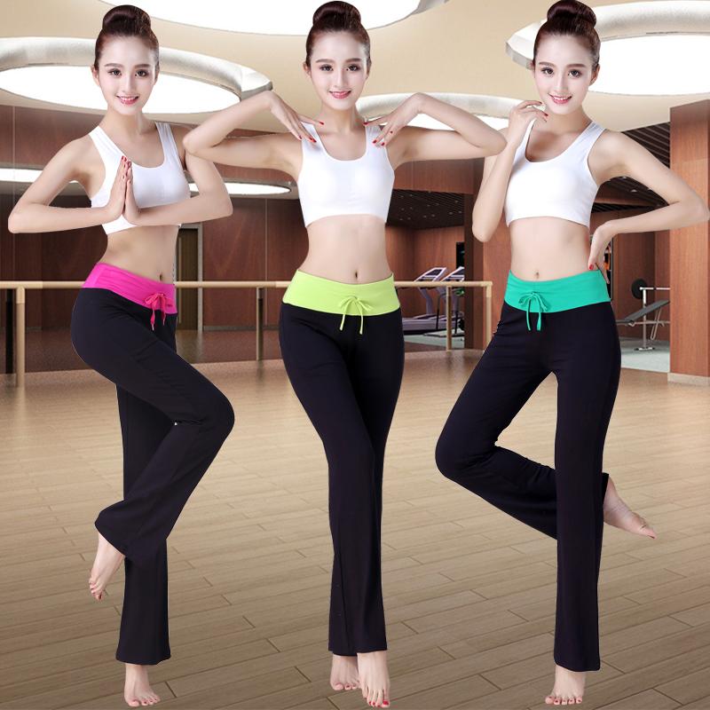 Mới yoga quần nữ phương thức khiêu vũ quần mùa xuân và mùa hè quần vuông nhảy thẳng micro- gương yoga quần áo đào tạo quần