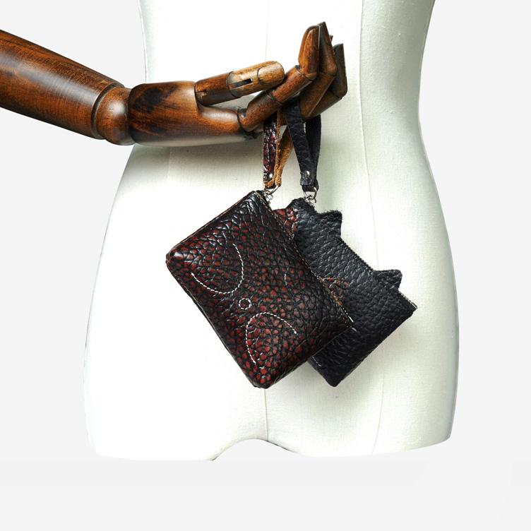 Của phụ nữ Coin Purse Đa chức năng Thẻ Gói Ngắn Coin Purse Mini Bag Top Lớp Da Túi Chìa Khóa Túi Mỹ Phẩm