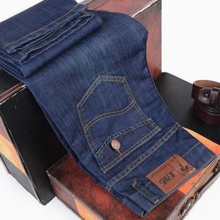 两件装秋季新款牛仔裤男士直筒宽松休闲长裤