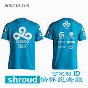 C9 Cloud9 đội ngũ dịch vụ chính thức League Of Legends e-đội thể thao cotton ngắn tay tấm vải liệm Jedi T-Shirt nam
