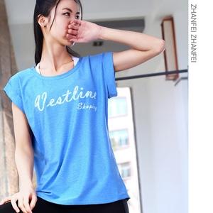 Thể thao lỏng lẻo ngắn tay của phụ nữ chạy áo áo yoga đào tạo quần áo tập thể dục nhanh chóng làm khô độ ẩm wicking T-Shirt vest