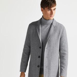 拉夫劳伦制造商本米 男70%美利奴羊毛 人字纹西装领大衣 主图