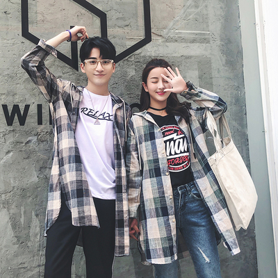 Mùa hè dài áo gió nam Hàn Quốc phiên bản của xu hướng kẻ sọc đỏ gown couple quần áo chống nắng phần mỏng cao đẳng gió áo khoác