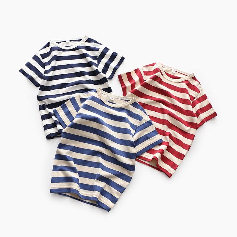 男童有机棉条纹短袖CMMM(优惠后10元包邮)