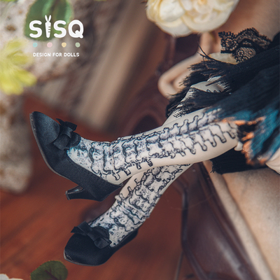 taobao agent Silk retro small high heels BJD 1/4 1/3 SD10 MSD giant baby MDD six-point baby shoes in stock
