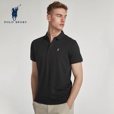 Polo thể thao áo sơ mi bật đen thanh niên mùa hè mới áo sơ mi thời trang giản dị Paul ngắn tay polo áo sơ mi nam t-shirt