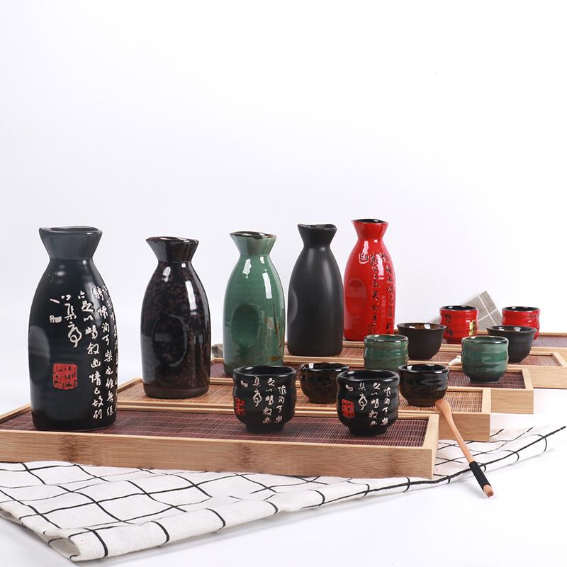 Nhật Bản sáng tạo màu đen retro gốm vì lợi ích nồi rượu vang ly rượu quả ấm trà hầm rượu vang ấm rượu vang