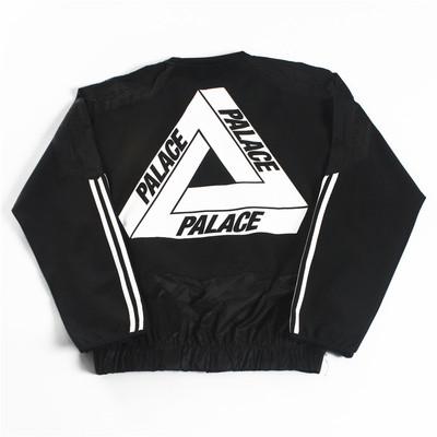 Đường phố cung điện 3m phản chiếu doanh phù hợp với đào tạo tam giác logo ba thanh áo len thường dài tay áo thủy triều Áo len