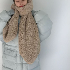 实拍1650韩版加厚软绵绵保暖绒感长围巾雪天 4色
