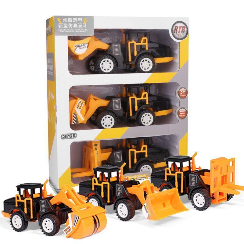 工程车玩具礼盒套装惯性助力车