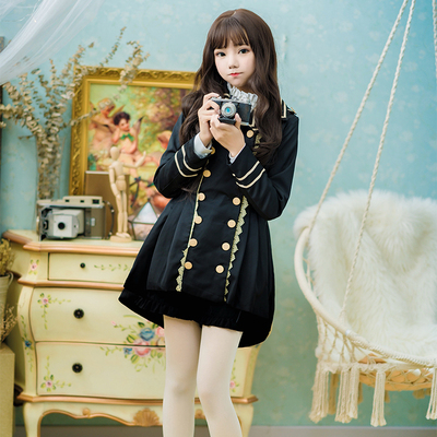 taobao agent Soft girl cute military uniform sense handsome dovetail windbreaker student shorts mid-length coat girl self-cultivation autumn and winter suit