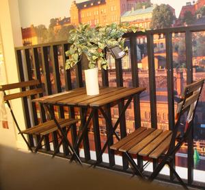 IKEA IKEA chính hãng Tarno ngoài trời rắn gỗ gấp bảng và ghế đồ nội thất giản dị nguồn cung cấp du lịch cắm trại bảng