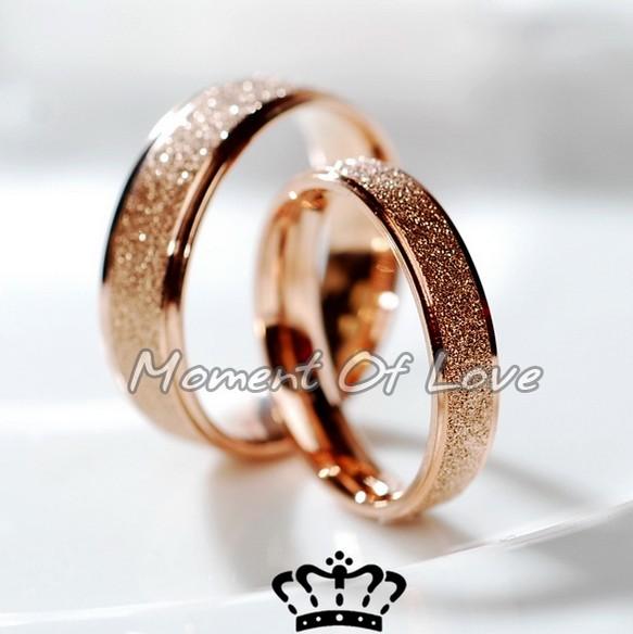 周大福焕美宽版磨砂满天星细尾戒对戒情侣戒指简约个性小指玫瑰金