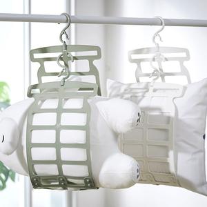 晒枕头神器多功能专用晾晒架子挂钩家用窗外阳台折叠晾衣架凉晒网