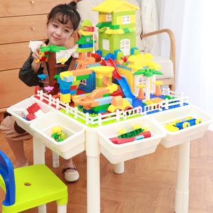 樂高儿童多功能益智积木桌拼装玩具