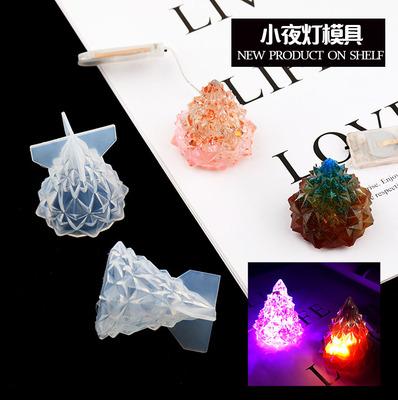 taobao agent Trendy workshop vibrato creative night light decoration mold diy handmade aromatherapy gypsum crystal epoxy silicone mold