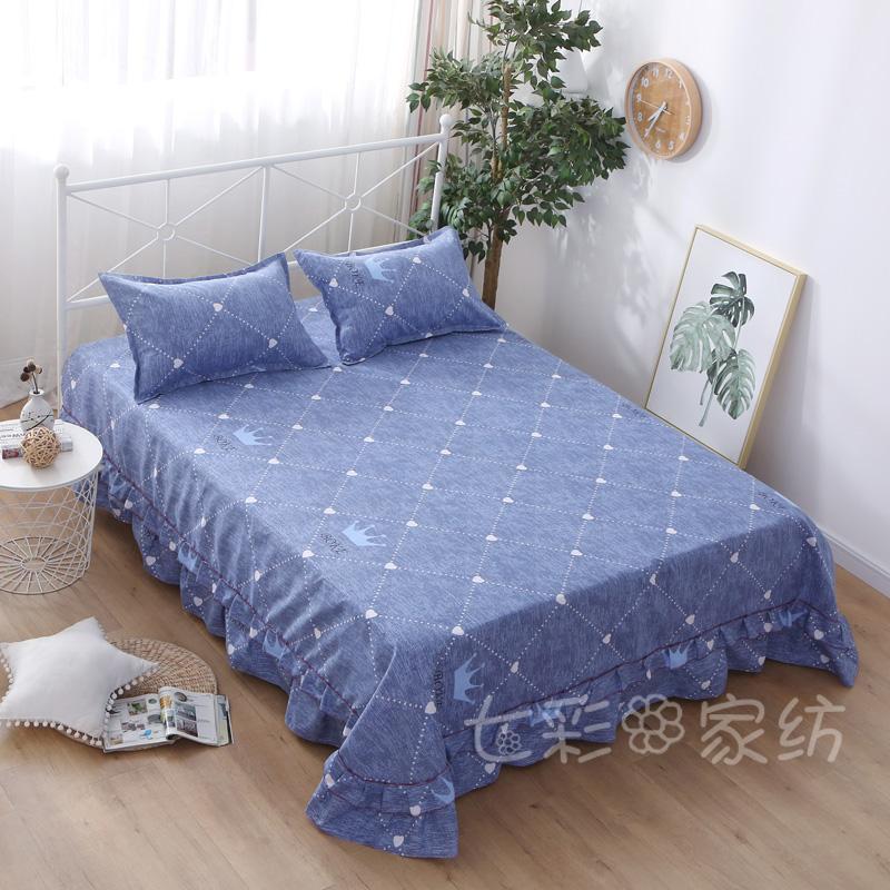 床裙单件席梦思防滑保护套 双人棉布加厚公主风床罩1.51.82.0m床