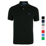Mỹ thư trực tiếp Polo Ralph Lauren Ralph Lauren nam phiên bản tiêu chuẩn cổ điển của bông ngắn tay áo Polo