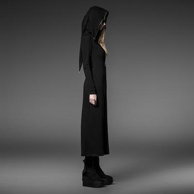 taobao agent *Original design dark ladies punk style retro dress hooded cosplay black gothic