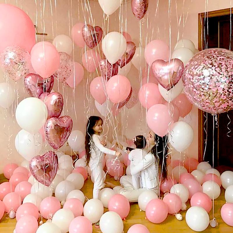 波波球生日装饰气球场景数字母串灯布置套餐网红求婚浪漫表白派对