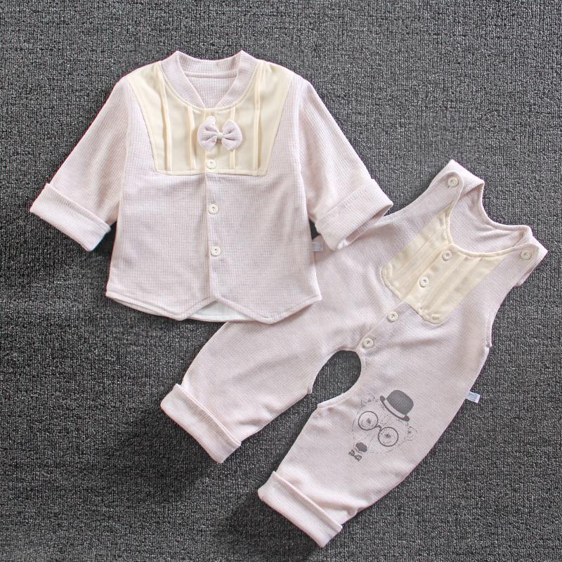 男婴儿背带裤套装0一1岁6-12个月3八9女宝宝春装4春季5衣服7春秋8[优惠10元包邮]