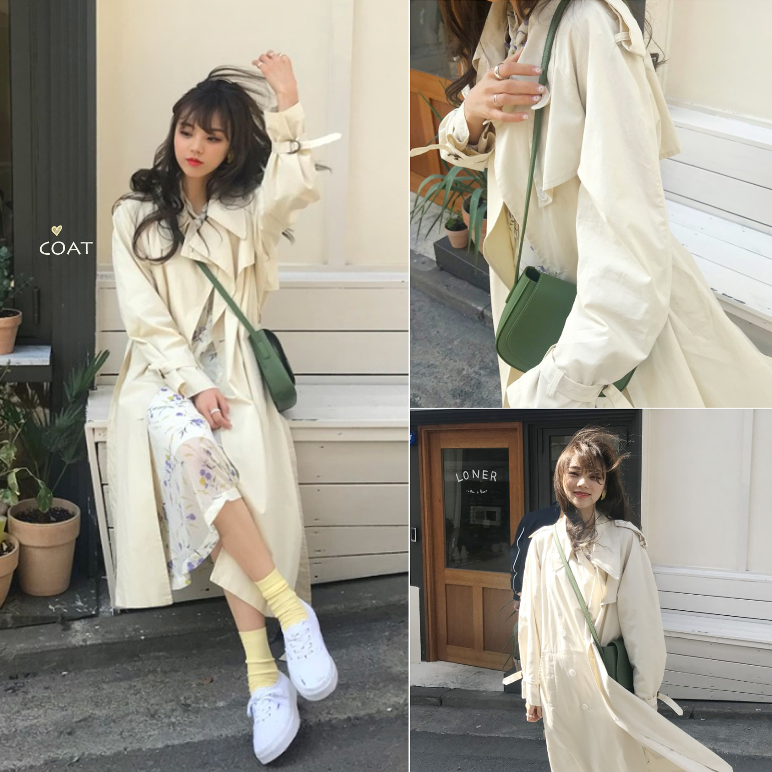 2190#鬼马系少女早秋必备 走路带风魔法外套风衣 2色现货