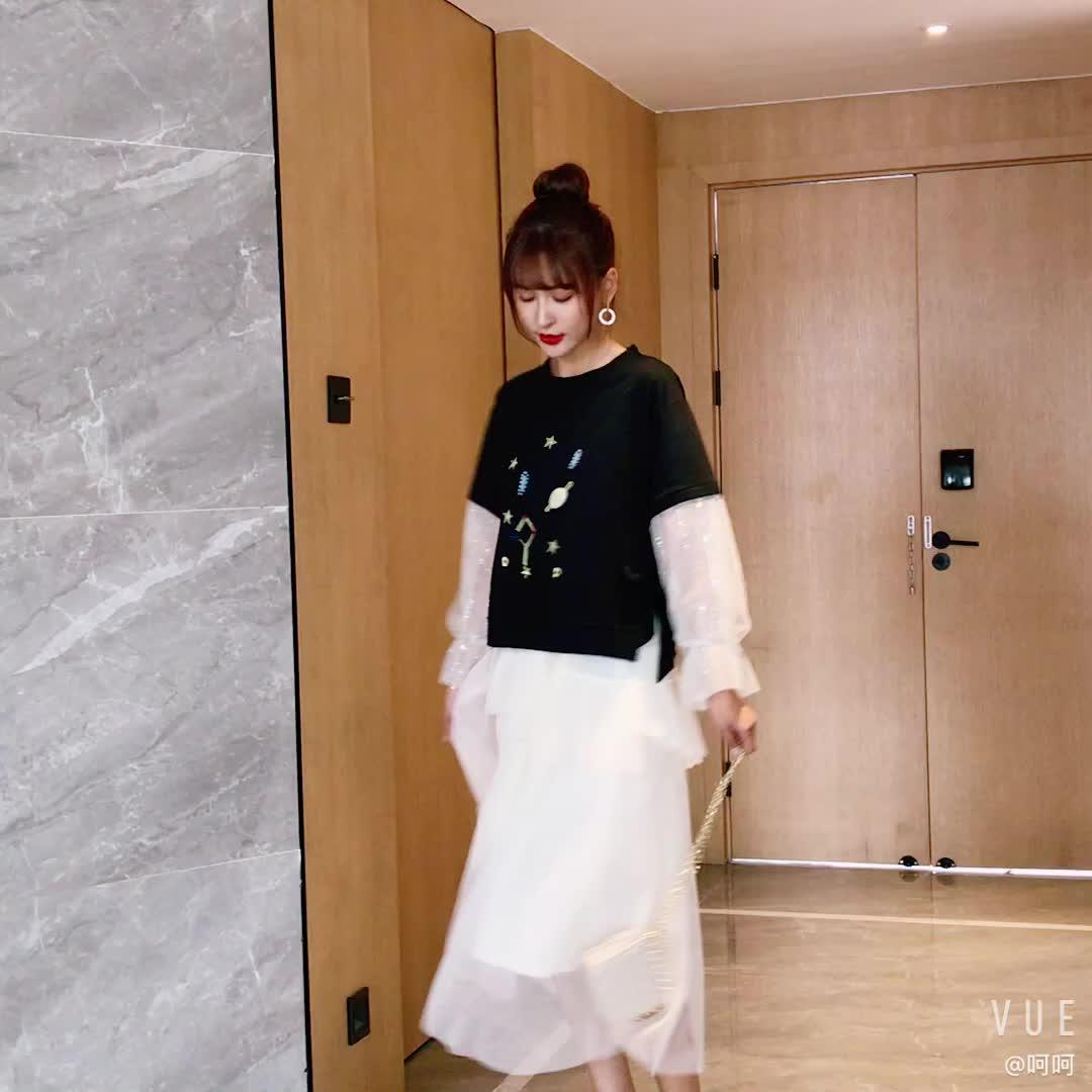 适合胯大腿粗的裙子女2019秋季新款高腰不规则超仙网纱蛋糕半身裙