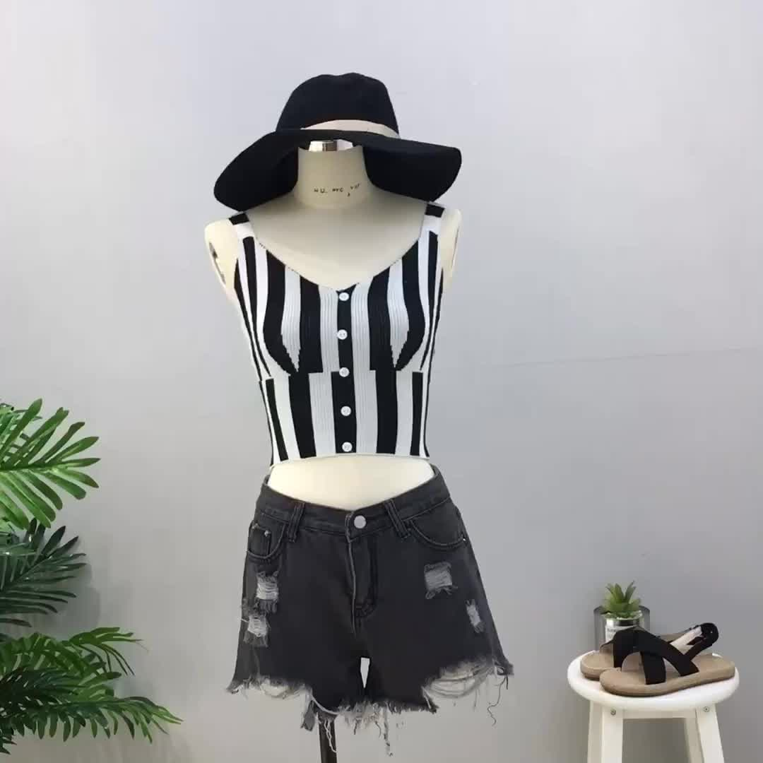 实拍吊带小背心女夏季短款露脐高腰打底外穿百搭韩版带胸垫抹胸
