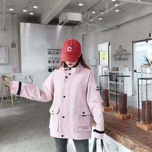 实拍现货2019春季新品ins同款潮牌男女情侣多色工装休闲夹克外套