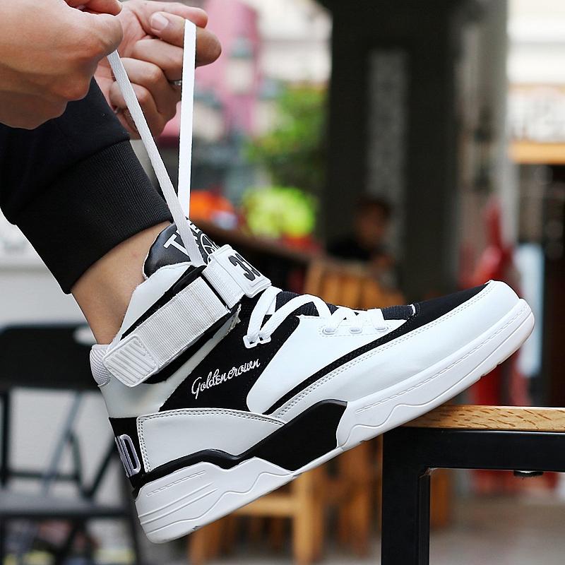 Mùa hè của nam giới giày tăng 8 CM giày thủy triều cao để giúp giày giày vô hình tăng 10 cm thể thao thoáng khí giày bóng rổ