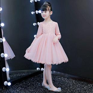 女童春装超洋气加绒裙子儿童公主裙
