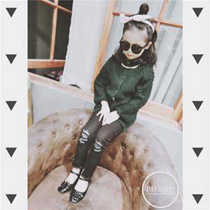 Betty 2016冬款 儿童袖颗粒长款毛衣外套