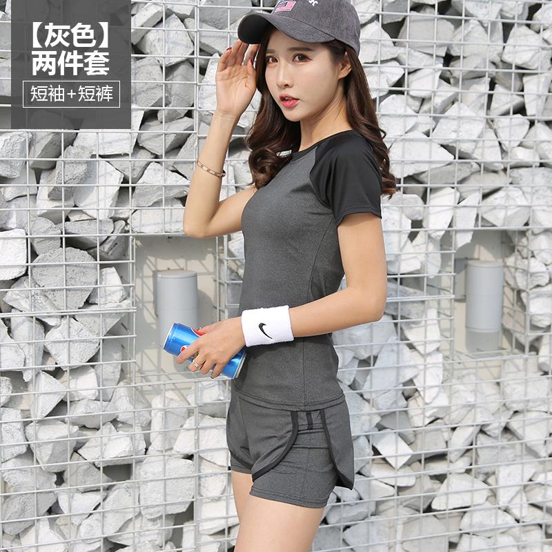 瑜伽服运动套装女夏季休闲两件套跑步健身房时尚速干大码修身薄款