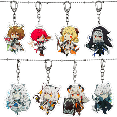 taobao agent Tomorrow's Ark Keychain Pendant Two-dimensional Animation Game Peripheral Silver Grey White-faced Owl The Shining Texas
