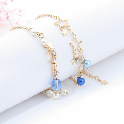 taobao agent High-value starry sky bracelet Japanese soft girl cute and simple personality girl heart moon star jewelry