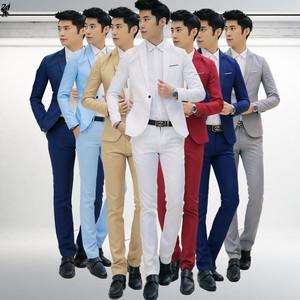 Chàng trai mùa hè tốt nhất người đàn ông nhóm trang phục váy thanh niên phù hợp với phù hợp với mùa hè Hàn Quốc phiên bản của phần mỏng chơi nhóm phù hợp với đẹp trai