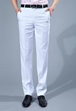 男士商务职业装白色西裤 无褶休闲西裤 修身型薄款西服长裤3168-8