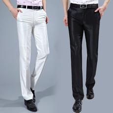 男士商务职业装西裤 无褶亮光休闲西裤修身型薄款西服长裤256-424