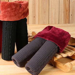 女童冬装加绒加厚打底裤儿童中大童外穿