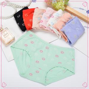 Nhà sản xuất đặc biệt cung cấp phương thức sợi than tre in thấp eo ladies cô gái đồ lót sinh viên tóm tắt rộng vành quần