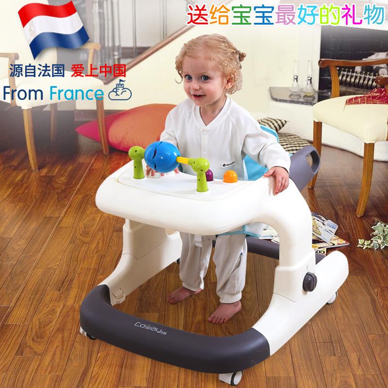 Baby Walker Giỏ hàng 6 7-18 tháng Trẻ em Tập thể dục Chống rollover với âm nhạc có thể bị trả lại