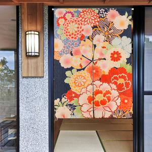 日式和风布艺门帘窗帘卫生间隔断