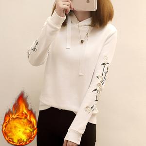 792#实拍秋冬季纯色长袖卫衣高中学生韩版宽松学院风连帽上衣外套