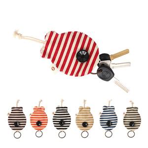 Cá gói chìa khóa ba màu vá Hàn Quốc phiên bản của các cặp vợ chồng dễ thương vải sáng tạo phần mỏng dây rút Meng key gói