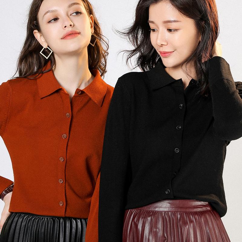 【恒源祥专场】100%羊绒女开衫针织毛衣