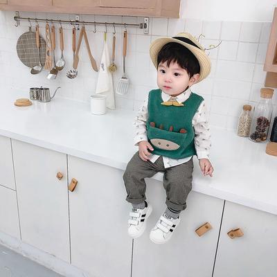 1一3岁男童可爱韩版春秋三件套