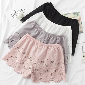 2018 Hàn Quốc thời trang mùa hè bông an toàn quần rỗng hoa ba quần kích thước lớn lỏng đáy quần short rộng chân quần