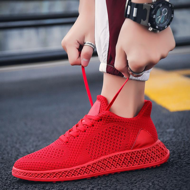 2019春季男士潮鞋飞织运动鞋跑步鞋透气网面鞋韩版小白鞋轻便