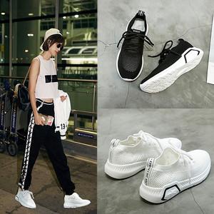 Mùa xuân và mùa hè Harajuku vớ đàn hồi giày nữ Hàn Quốc phiên bản của ulzzang thấp để giúp học sinh thở đan thể thao giày chạy phụ nữ