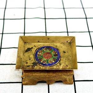 Đồng nguyên chất dát Wufu bản đồ trở lại đến cuối của nhà Thanh tấm vuông nhỏ sử dụng phương Tây bộ sưu tập hàng cũ đồng cũ châu Âu